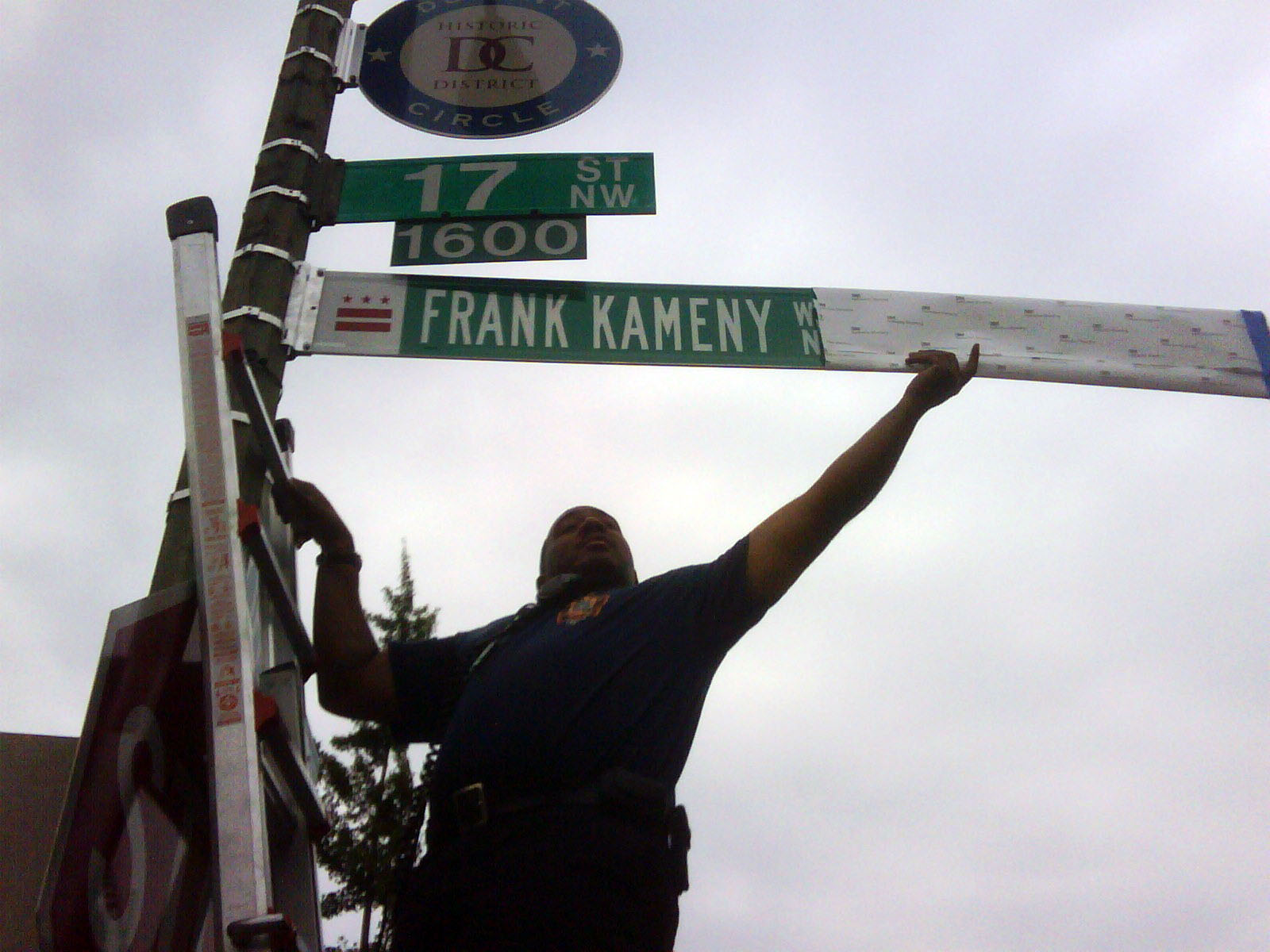 Kameny Way sign installation